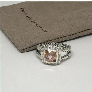 David Yurman Morganite Petite Albion ring